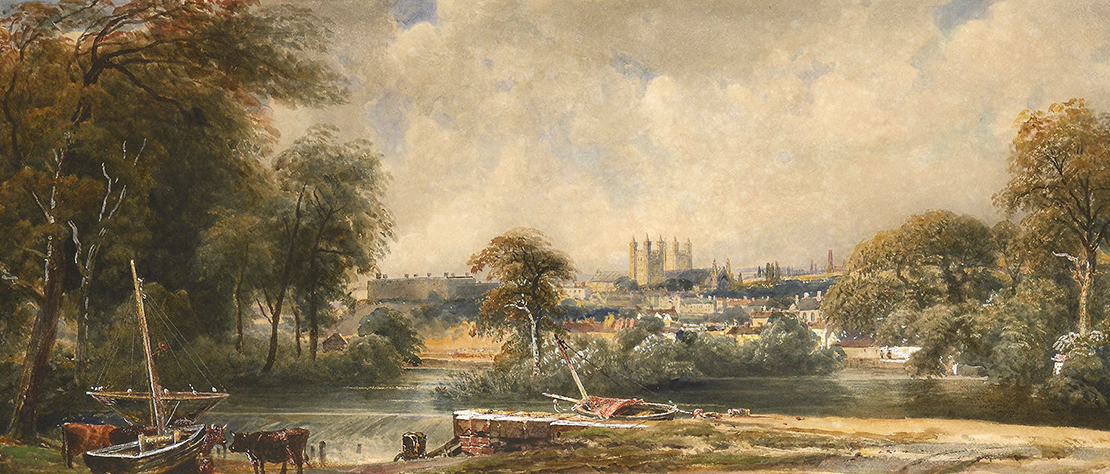 View of Exeter by Peter de Wint (1784-1849)