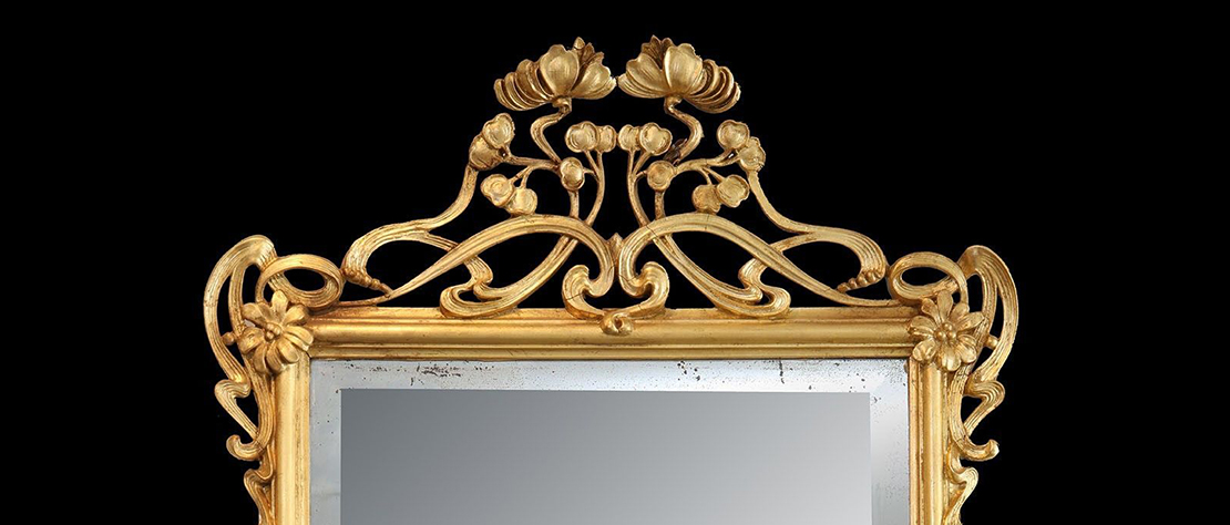 A late 19th century Art Nouveau mirror