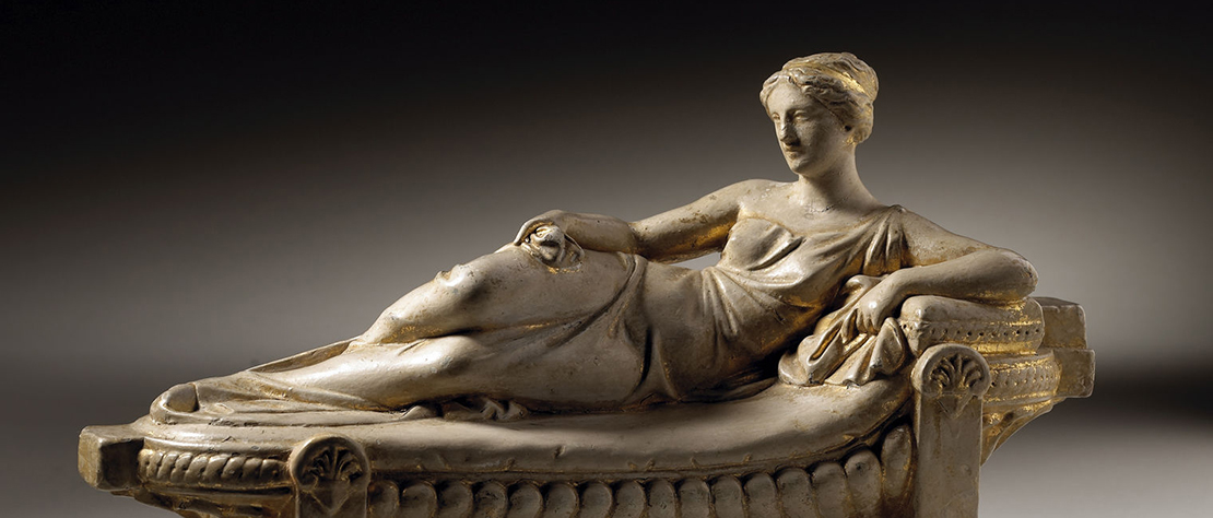 A Young Lady Reclining on a Chaise Longue