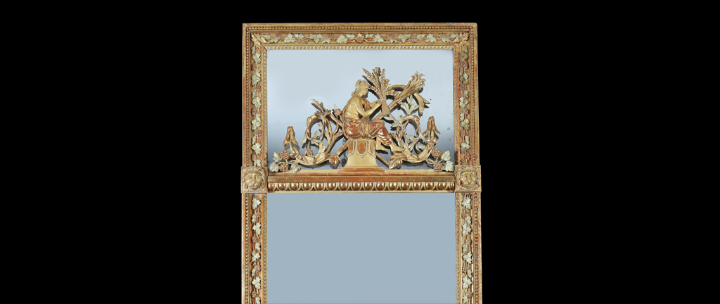 An early 19th century carved and gilt pier mirror (36770)