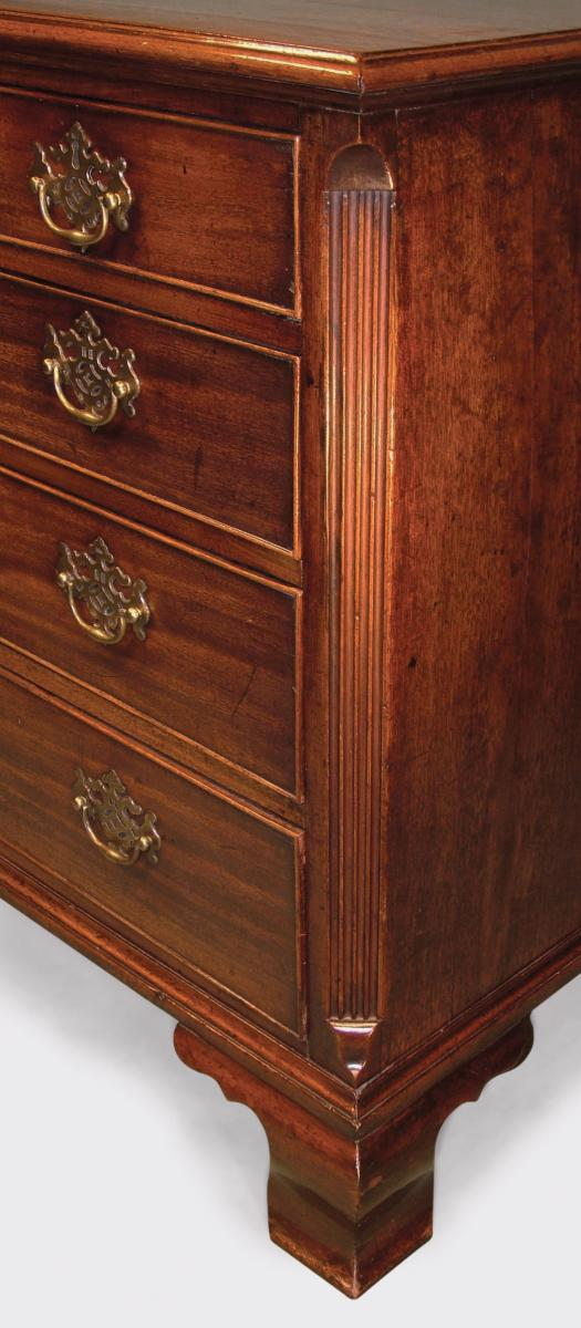 Antique George III Period Mahogany Chest of Drawers