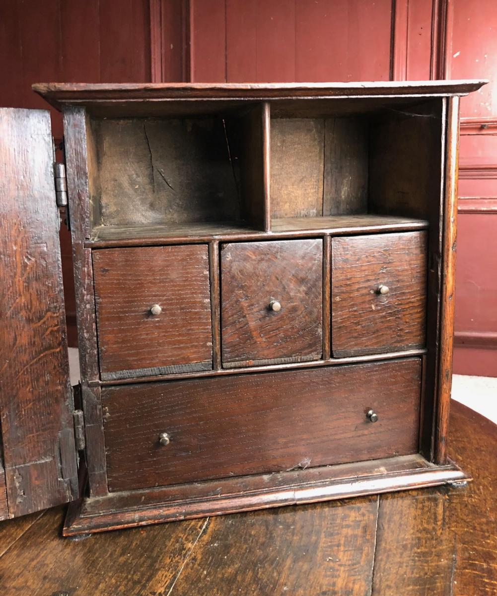 Oak spice cupboard