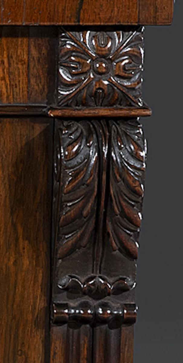 Regency Period 19th Century Rosewood Two Door Side Cabinet attributed to Gillows of Lancaster and London English Circa 1820