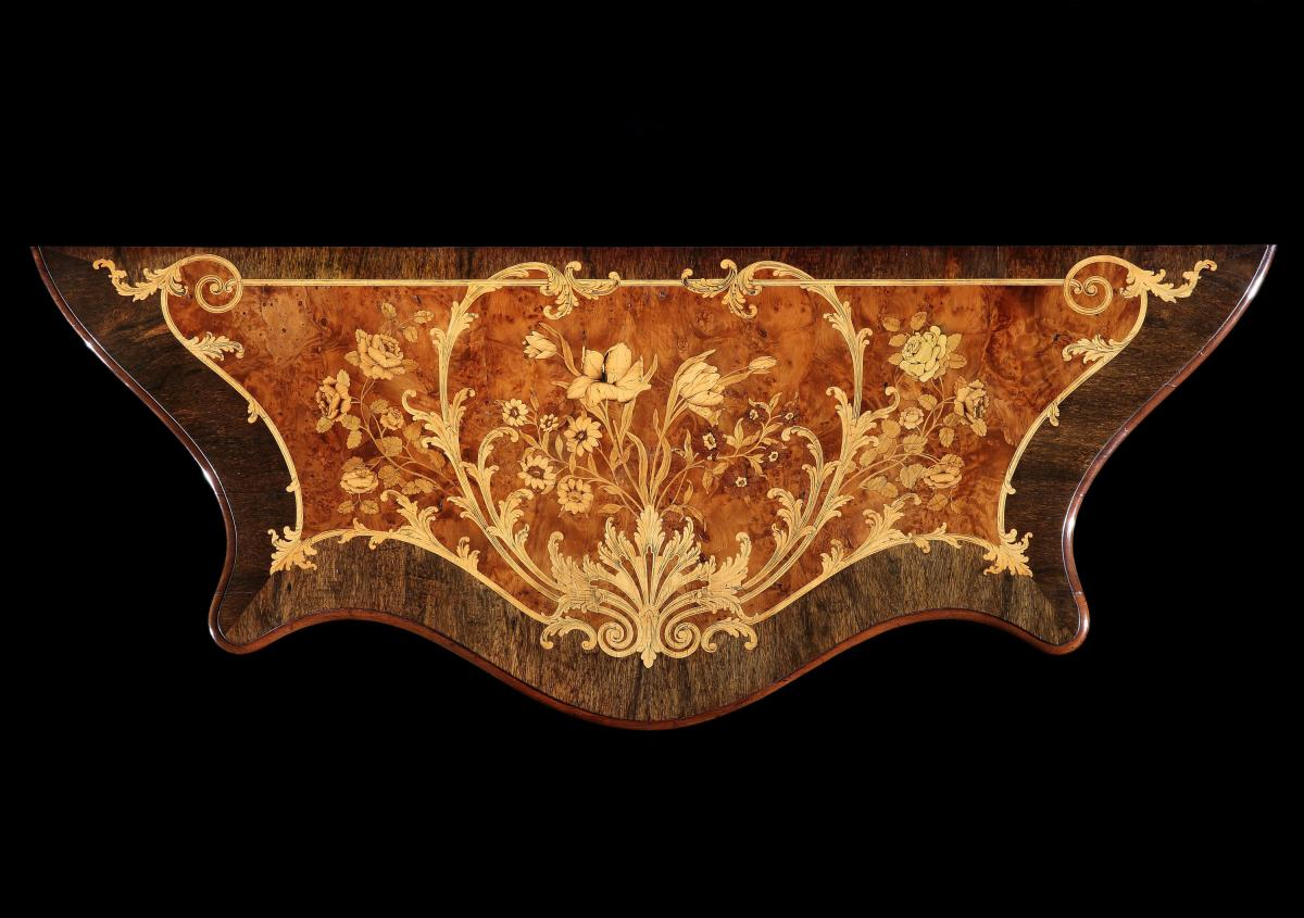 A George III Marquetry Commode attributed to Ince and Mayhew