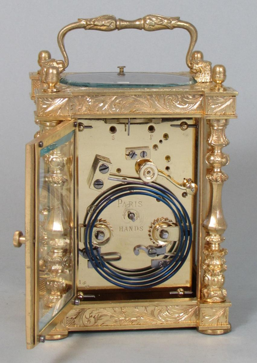 Drocourt Empire Style Carriage Clock backplate