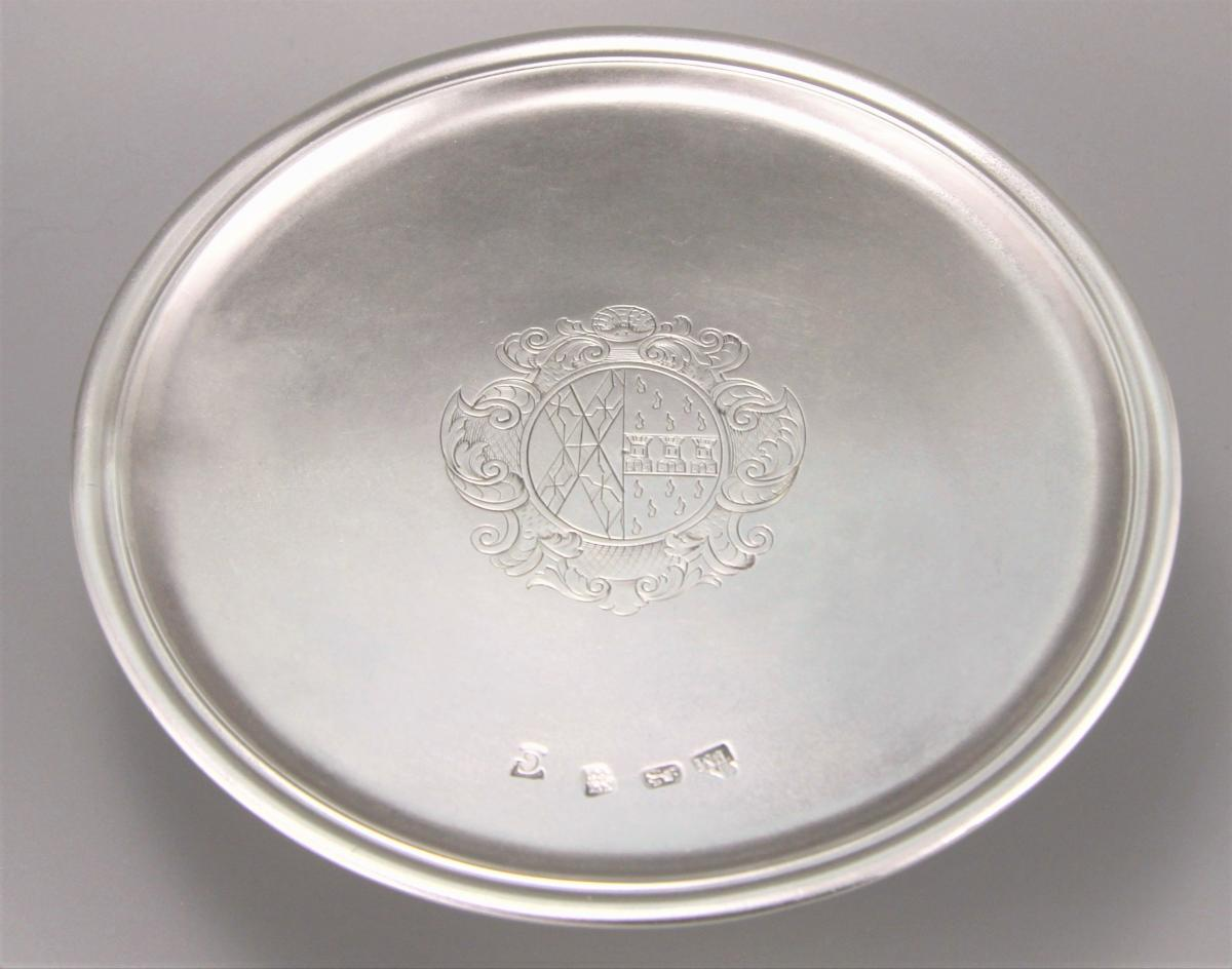 GEORGE I Sterling Silver Tazza by Thomas Morse. London 1722.