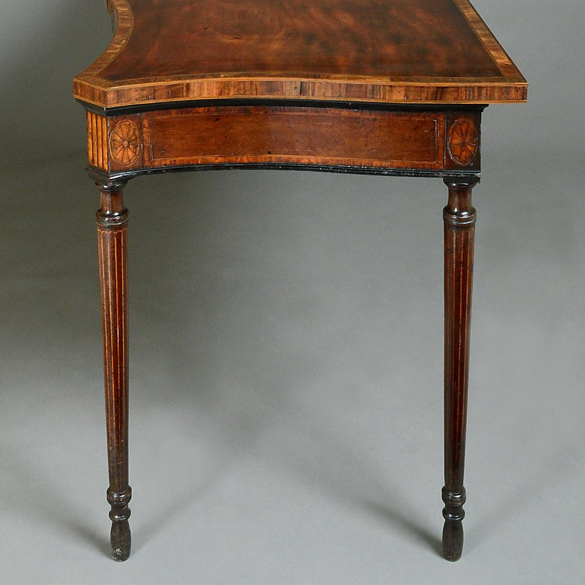 George III Mahogany and Marquetry Side Table