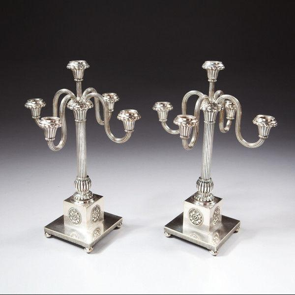 A Fine Pair of Baltic Candelabra