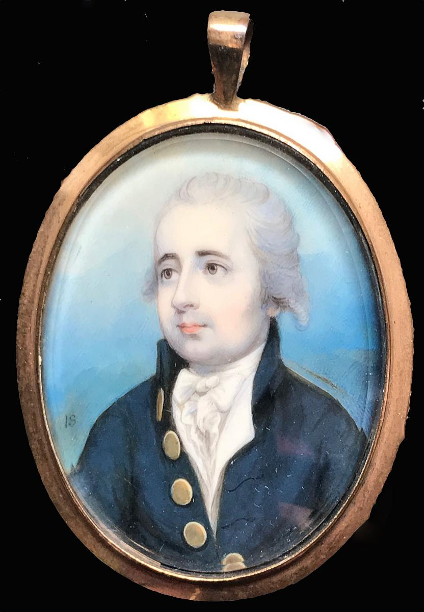 A portrait miniature of a Gentleman believed to be Kit Metcalfe