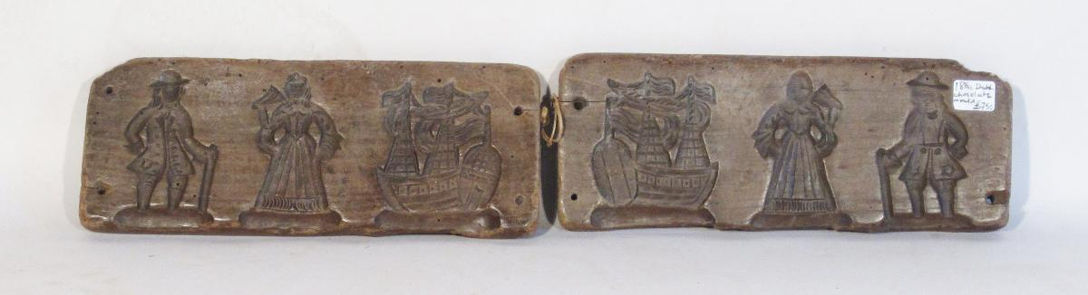 A Late 18th Century Dutch Double Sided Chocolate Mould