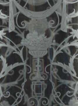 Baccarat acid etched glass vase