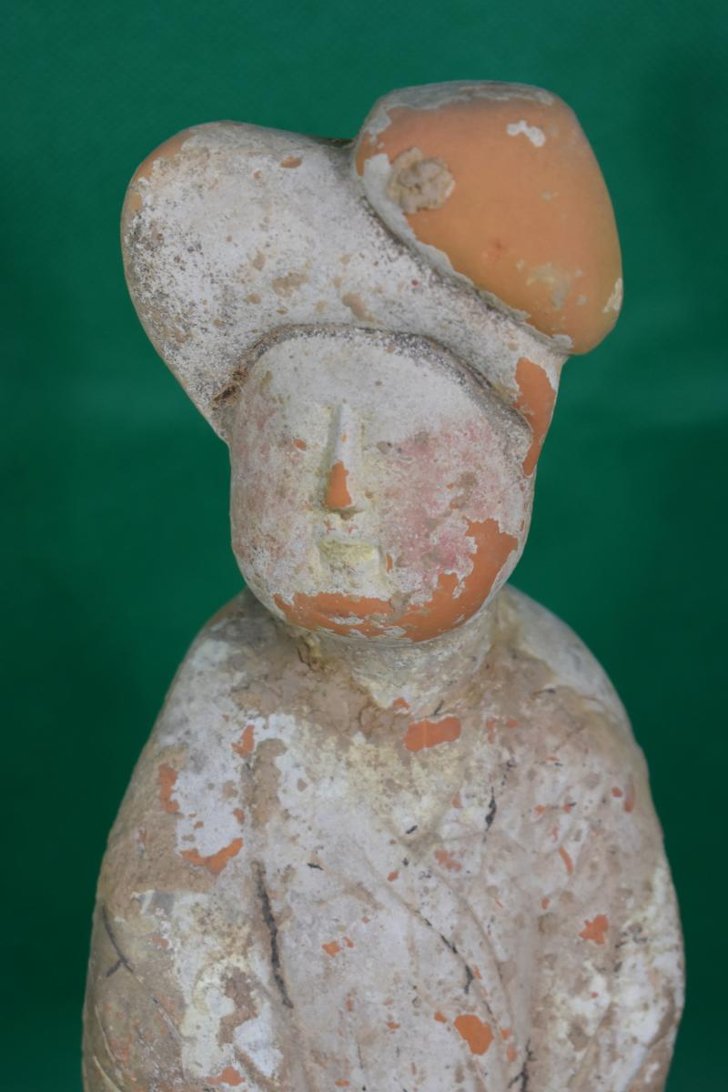A Standing Plump Lady Pottery - Tang (618-906)