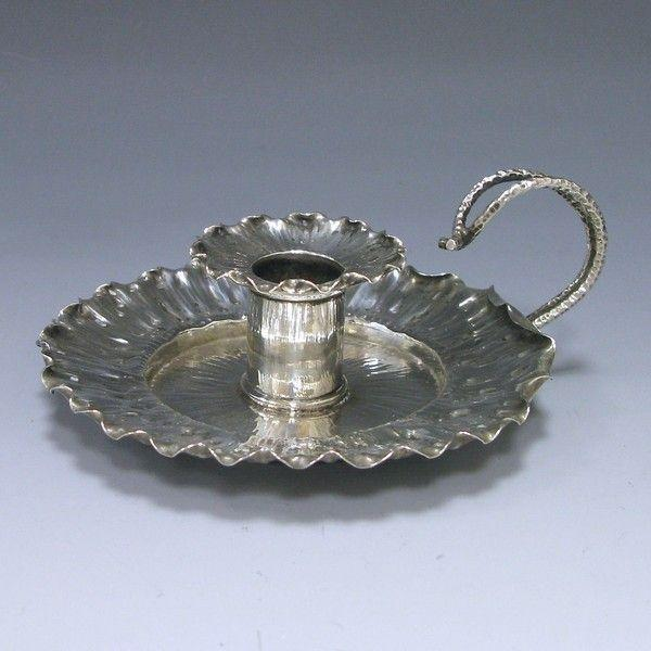 Antique Silver Chamberstick