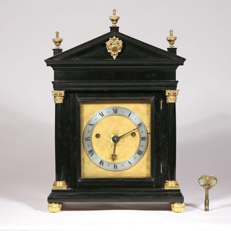 Edward East (1602-1697), Londini: A Charles II Ebony Striking Table Clock