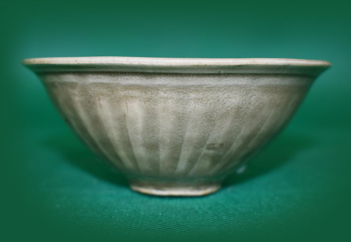 Yaozhou Celadon Ware Carved Bowl, Song Dynasty 12th Century