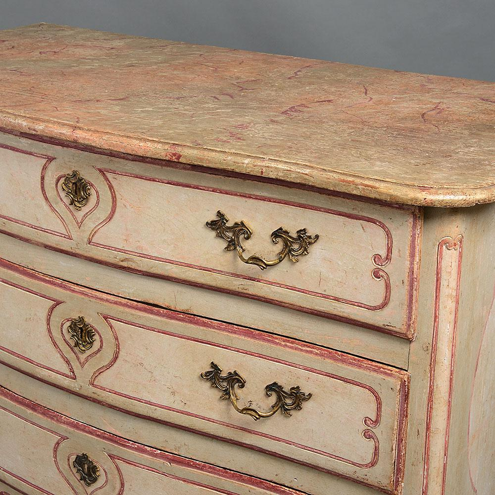 An 18th century French painted commode