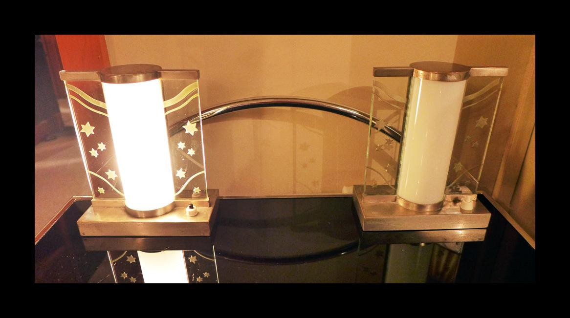 Art Deco Period Glass Table Lamps