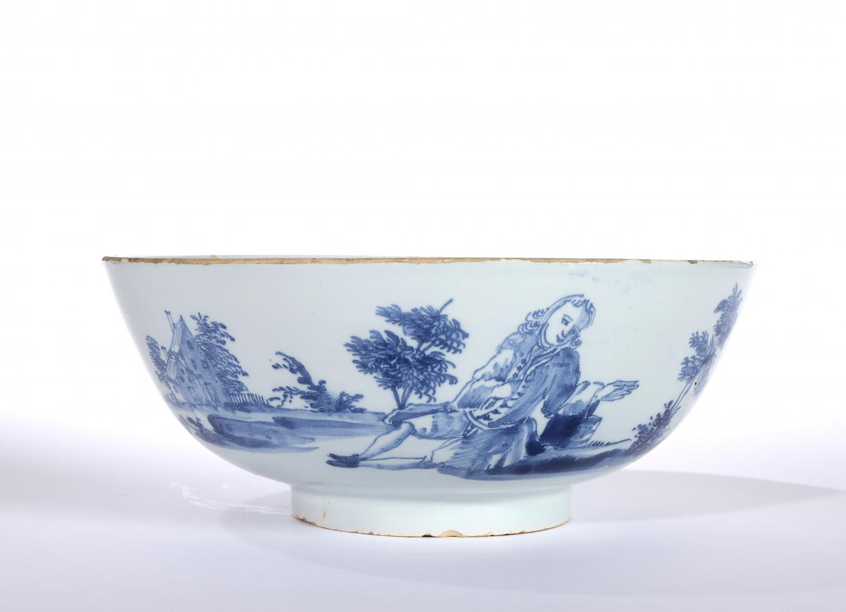 A Delft Punch Bowl, Liverpool or perhaps Bristol