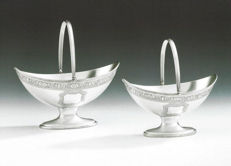 A pair of George III Baskets in sizes made in London in 1791 by Robert Hennell