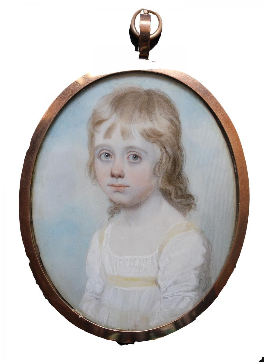 An Enchanting Portrait Of A Young Child, Henry Burch, Circa 1810