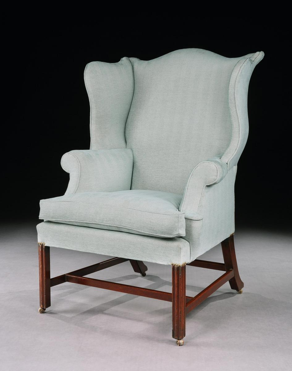 A George III Mahogany Wing Chair