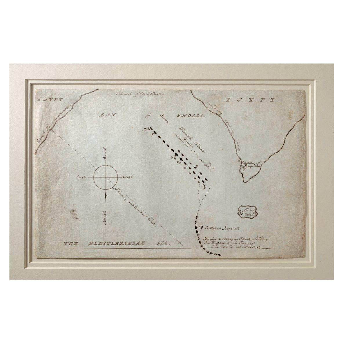 HMS Zealous Plan of the Battle of the Nile