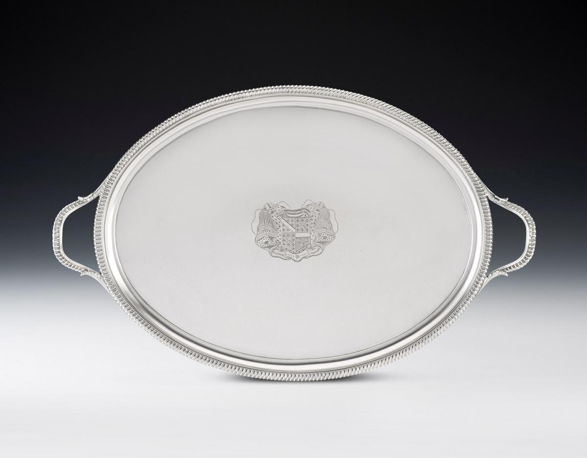 An exceptional George III Tea Tray made in London in 1803 by Crouch & Hannam