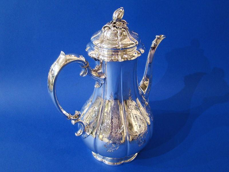 Large Victorian Silver Coffee Pot