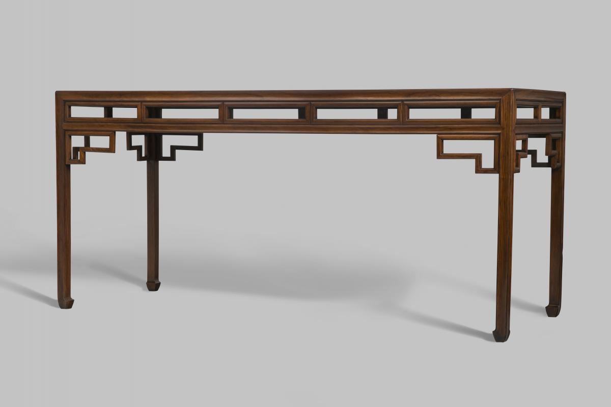A huanghuali corner leg painting table, late Ming – early Qing dynasty, 17th century
