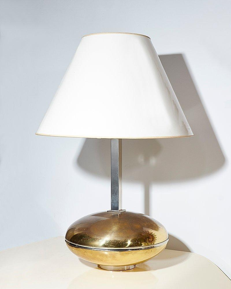 Brass and chrome lamp