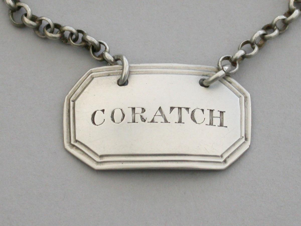 George IV Silver Sauce Label 'Coratch'