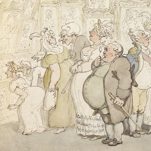 The private view by Thomas Rowlandson