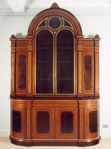 Very Large Inlaid Cabinet Designed by Owen Jones for Alfred Morrison