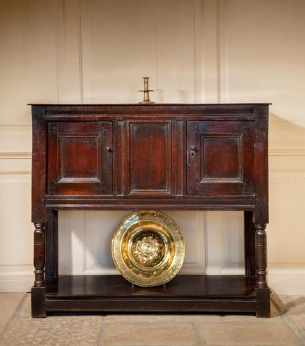A Small Charles I Oak Standing Livery Cupboard