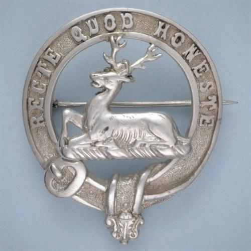 ANDERSON - Antique Silver Scottish Clan Badge. Edinburgh 1900