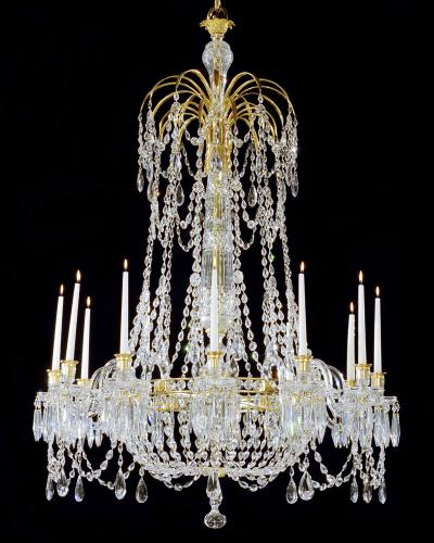 AN EXTREMELY RARE ENGLISH REGENCY PERIOD ANTIQUE CHANDELIER OF UNUSUAL DESIGN, English Circa 1800