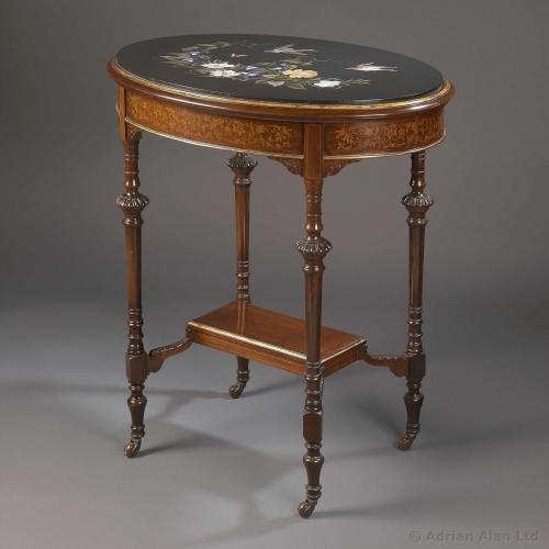 A Table With Marble Top - © Adrian Alan Ltd, Fine Arts and Antiques