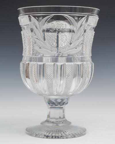 An Exceptionally Large Regency Goblet by John Blades