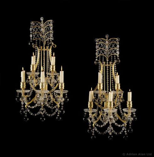 Baccarat Wall Lights - © Adrian Alan Ltd, Fine Arts and Antiques