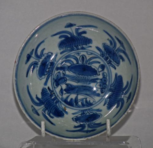 Ming Blue and White Small Plate