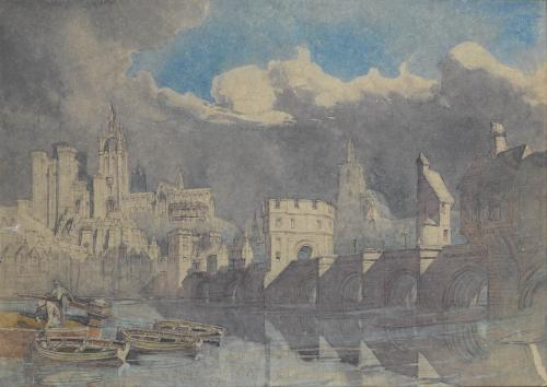 'Le Pont Saint-Bénézet and the Papal Palace beyond, Avignon Provence' by Alfred Charles Conrade (1863-1955)