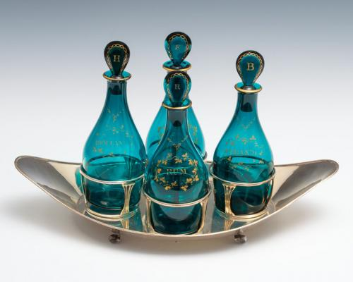 set of four Georgian decanters