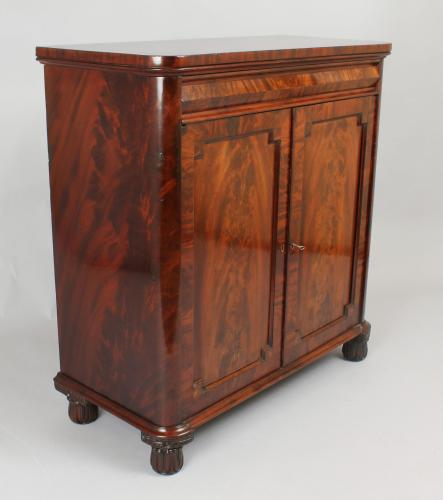 George IV period mahogany cupboard