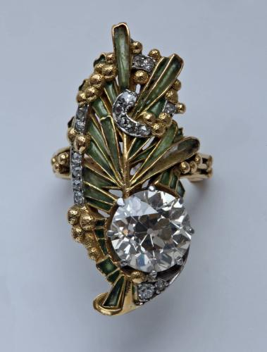 Magnificent Art Nouveau Ring Attributed to Rene Lalique