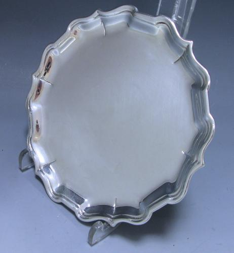 George II Sterling Antique Silver Salver made by Griffith Edwards in 1735