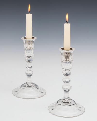 A Pair of Early Georgian Style Candlesticks, English Circa 1910