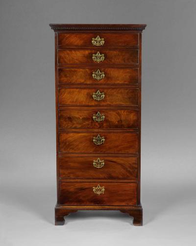 A good George III period Irish mahogany small tallboy
