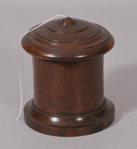S/2193 Antique Treen 19th Century Lignum Vitae String Barrel