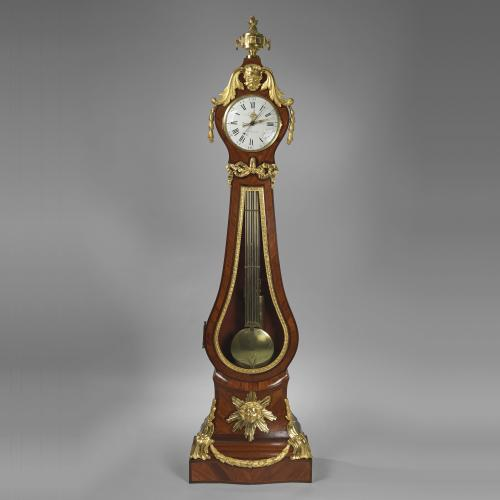 A Late Louis XV Ormolu-Mounted Tulipwood and Amaranth Regulateur de Parquetthe Movement by Jean-Andre Or Jean-Baptiste Lepaute, The Case by Nicolas Petit .Circa 1770