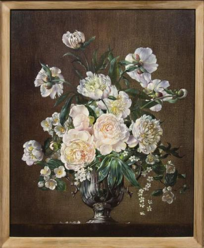 White Peonies by Cecil Kennedy
